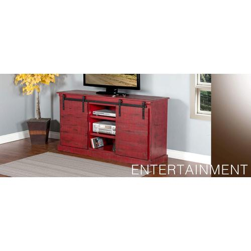 "65"" TV Console w/ Barn Door"