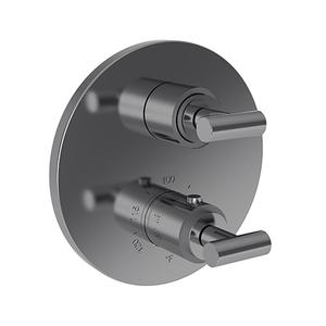 """Newport Brass - Midnight Chrome 1/2"""" Round Thermostatic Trim Plate with Handle"""
