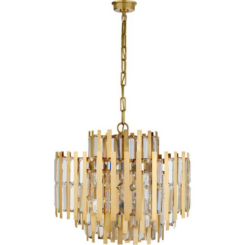 AERIN Ambrois 13 Light 30 inch Hand-Rubbed Antique Brass Chandelier Ceiling Light, Medium