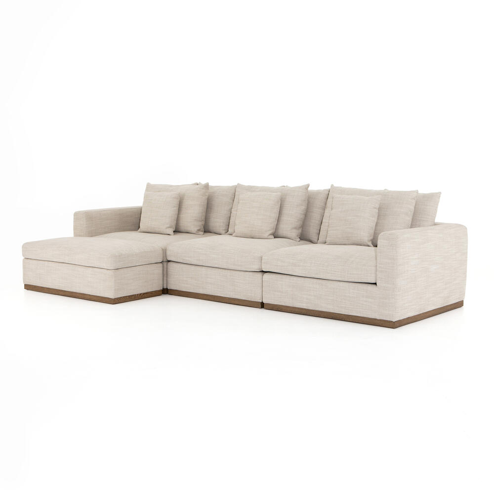 Paz 3 PC Sectional With Storage Ottoman-