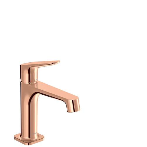 Polished Red Gold Single lever basin mixer 100 with waste set