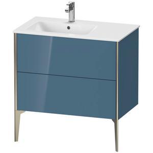 Duravit - Vanity Unit Floorstanding, Stone Blue High Gloss (lacquer)