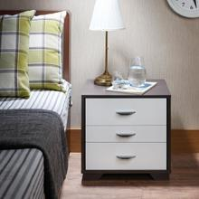 WHITE & BLACK NIGHTSTAND