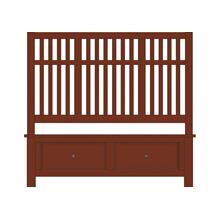 Craftsman Slat Bed with Footboard Storage