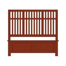 King Craftsman Slat Bed with Footboard Storage