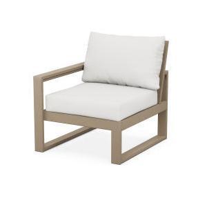 Polywood Furnishings - EDGE Modular Left Arm Chair in Vintage Sahara / Natural Linen