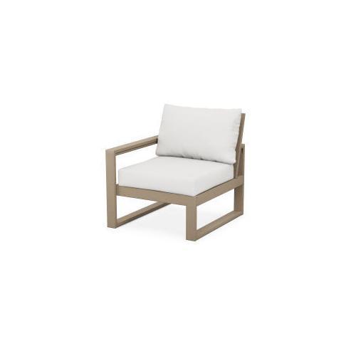 EDGE Modular Left Arm Chair in Vintage Sahara / Natural Linen