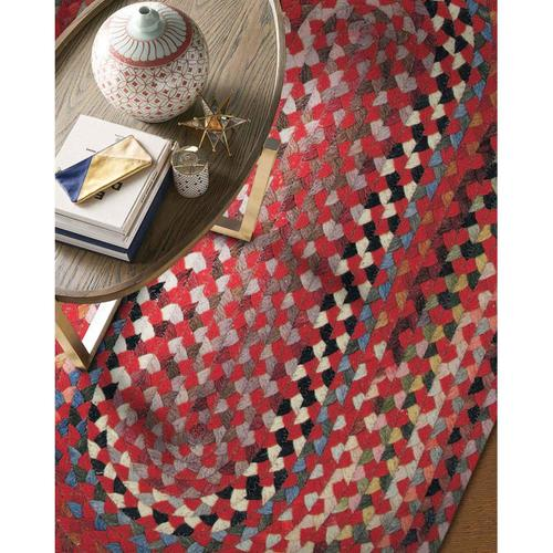 """Plymouth Country Red - Oval - 20"""" x 30"""""""