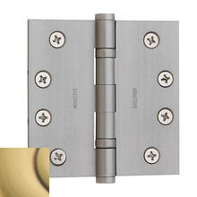 Satin Brass and Brown Ball Bearing Hinge