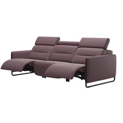 See Details - Stressless® Emily 3 seater with 2 motors arm steel
