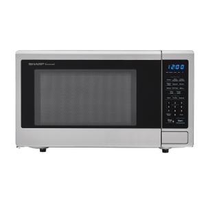 Sharp Appliances1.1 cu. ft. 1000W Sharp Stainless Steel Carousel Countertop Microwave Oven