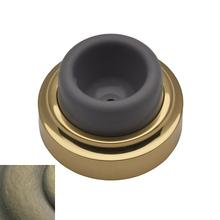 Satin Brass and Black Wall Flush Bumper