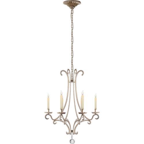 Visual Comfort - E. F. Chapman Oslo 6 Light 23 inch Burnished Silver Leaf Chandelier Ceiling Light