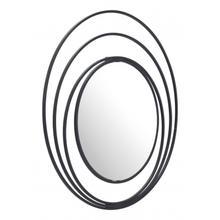 Luna Round Mirror Black