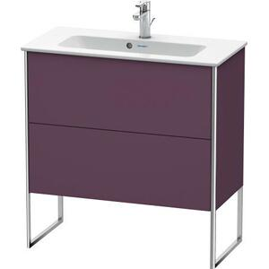 Vanity Unit Floorstanding Compact, Aubergine Satin Matte (lacquer)