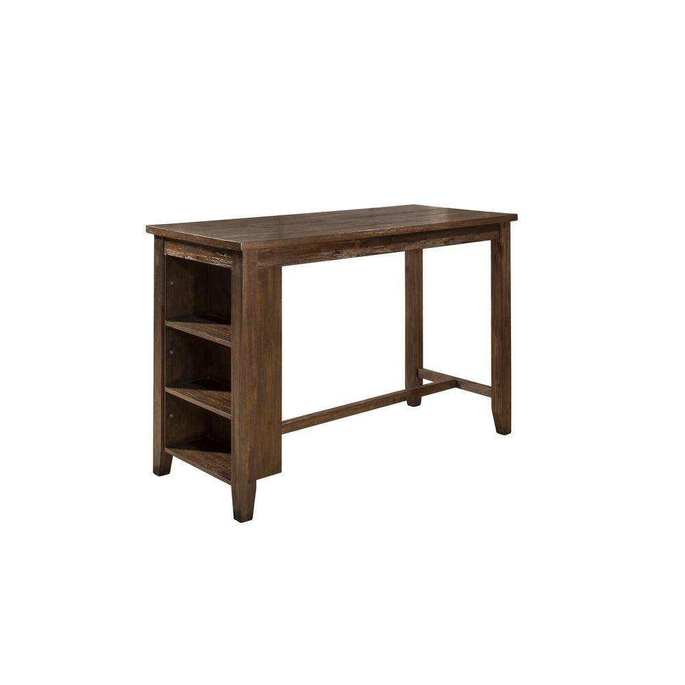 Spencer Counter Height Table - Kd - Dark Espresso (wirebrush)