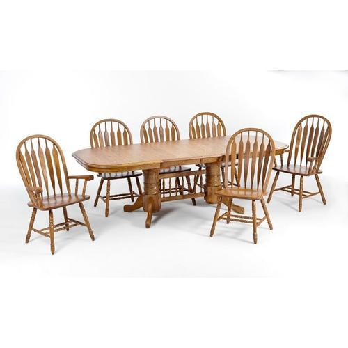 Product Image - Classic Oak Chestnut Arrow Arm Chair