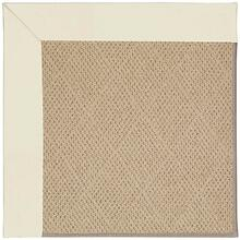 "Creative Concepts-Cane Wicker Canvas Ivory - Rectangle - 24"" x 36"""