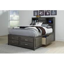 Caitbrook - Gray 3 Piece Bed Set (Queen)