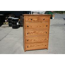 Shaker ALDER SIX Drawer Gentleman's Chest