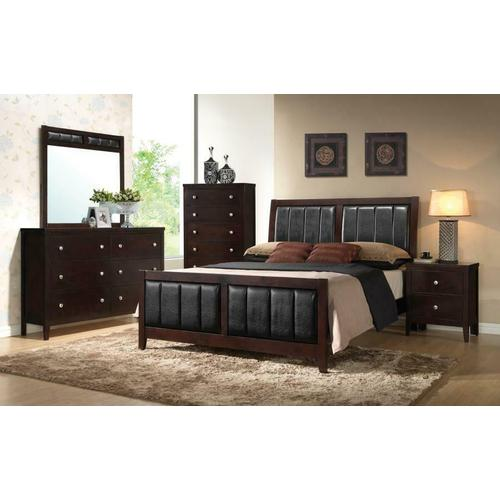 Carlton Cappuccino Upholstered King Five-piece Bedroom Set