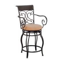 See Details - Metal Swivel Brown Counter-height Stool
