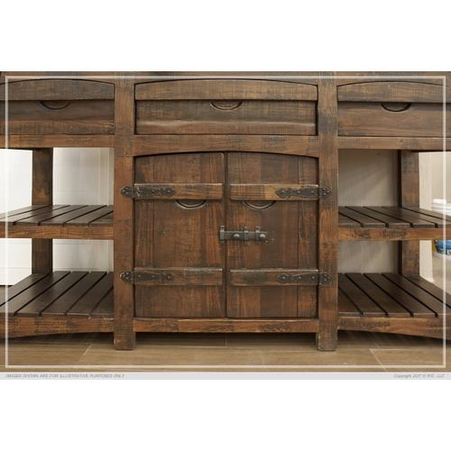 Gallery - 3 Drawer & 2 Doors Console