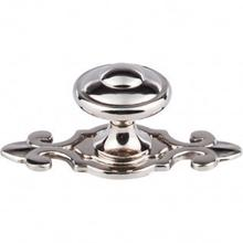 Canterbury Knob 1 1/4 Inch w/Backplate - Polished Nickel
