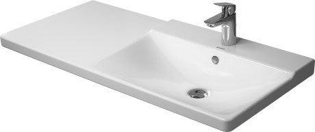P3 Comforts Furniture Washbasin Asymmetric 1 Faucet Hole Punched