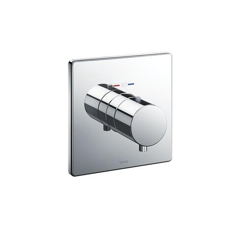Thermostatic Mixing Valve Trim - Square - Brushed Nickel