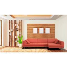 Divani Casa Katie Modern Orange Italian Leather Sectional Sofa