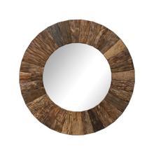 """See Details - 47"""" Round Wood Mirror"""