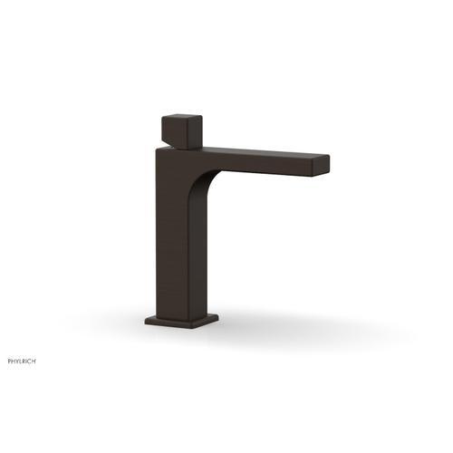 MIX Single Hole Lavatory Faucet, Cube Handle 290-08 - Antique Bronze