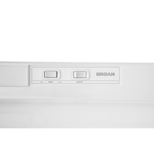 Broan® 36-Inch Convertible Under-Cabinet Range Hood, White