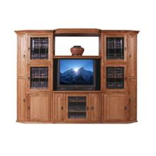 Forest Designs Mission Oak Three Piece Wall & TV Stand & Adjustable Shelf - 43w