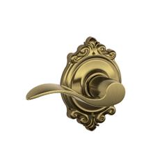 Accent Lever with Brookshire trim Hall & Closet Lock - Antique Brass