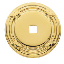 Polished Brass Round Edinburgh Back Plate