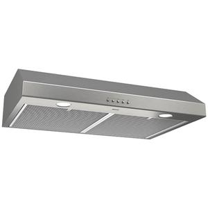 Glacier 30-Inch 300 CFM Stainless Steel Range Hood with LED light