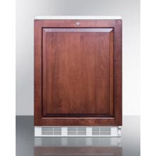 Commercially Listed Built-in Undercounter All-refrigerator for General Purpose Use, Auto Defrost W/lock, Integrated Frame for Overlay Panels, White Cabinet