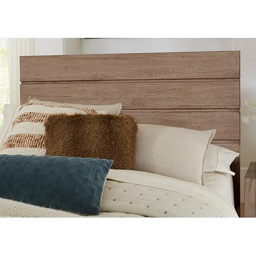 Canted Plank Platform Bed