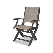 Coastal Folding Chair in Vintage Coffee / Onyx Sling