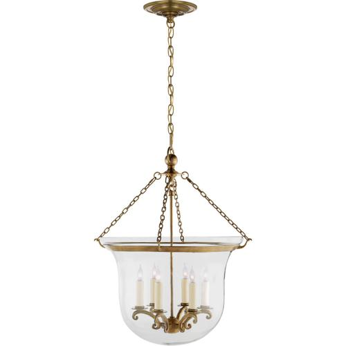 - E. F. Chapman Country 6 Light 21 inch Antique-Burnished Brass Foyer Pendant Ceiling Light