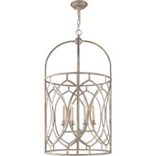 View Product - E. F. Chapman Marquise 6 Light 21 inch Burnished Silver Leaf Foyer Pendant Ceiling Light
