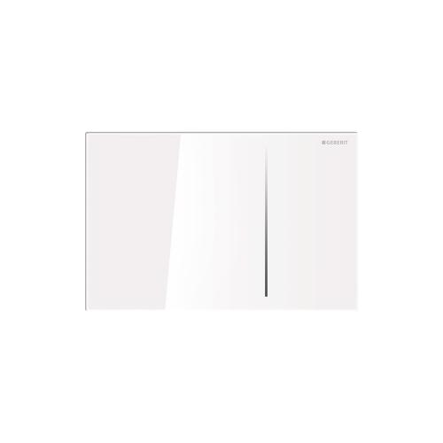 Sigma70 Dual-flush plates for Sigma series in-wall toilet systems White glass with aluminum frame Compatibility