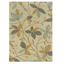Floating Leaves Cream/blue Col