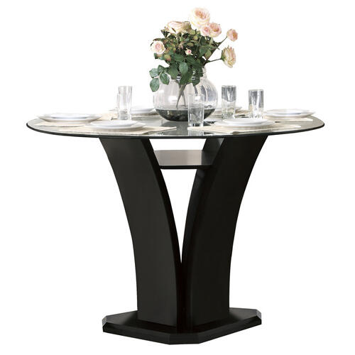 Gallery - Round Counter Height Table, Glass Top