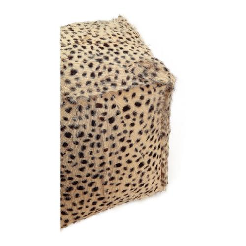 Moe's Home Collection - Spotted Goat Fur Pouf Cream