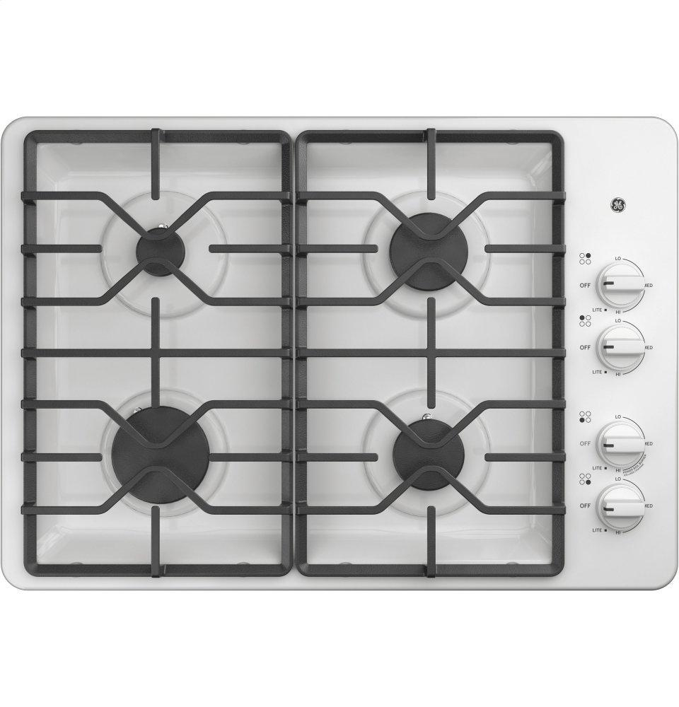 """GE30"""" Built-In Gas Cooktop With Dishwasher-Safe Grates"""