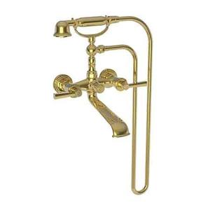 Polished Gold - PVD Exposed Tub & Hand Shower Set - Wall Mount