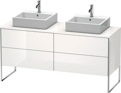 Vanity Unit For Console Floorstanding, White High Gloss (lacquer)